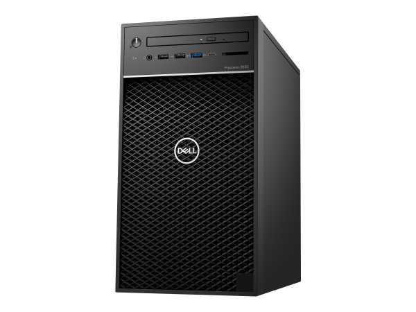 Dell Precision 3630 Tower - MT - 1 x Xeon E-2174G / 3.8 GHz - RAM 16 GB - SSD 256 GB - DVD-Writer